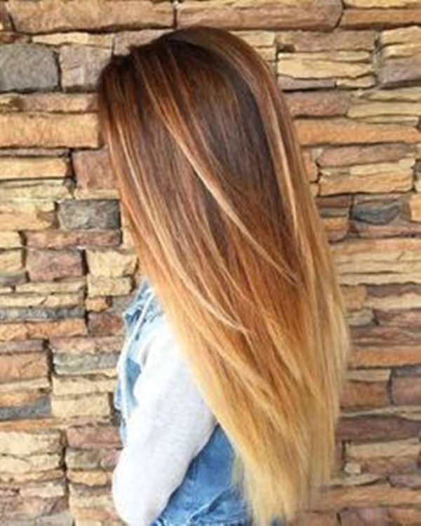 Hairstyles With Blonde Red And Brown Highlights Balayage Antarctica Ssag
