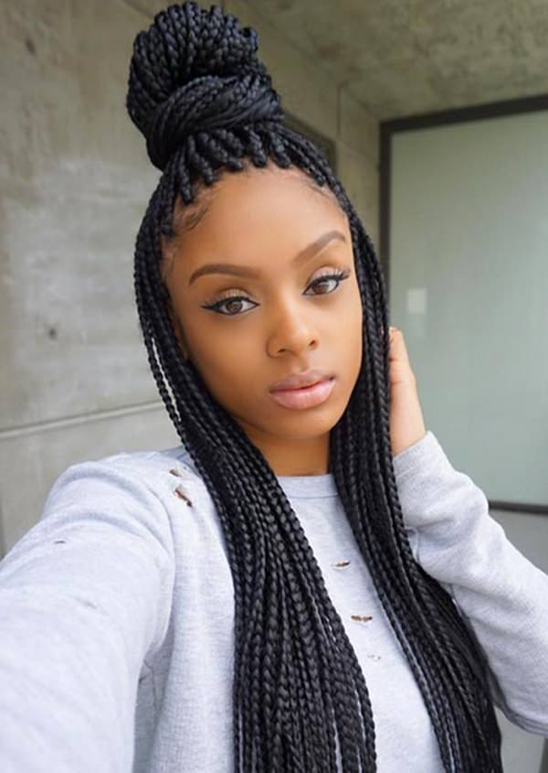 55 Inspirational Jumbo Box Braids To Rock Style Easily
