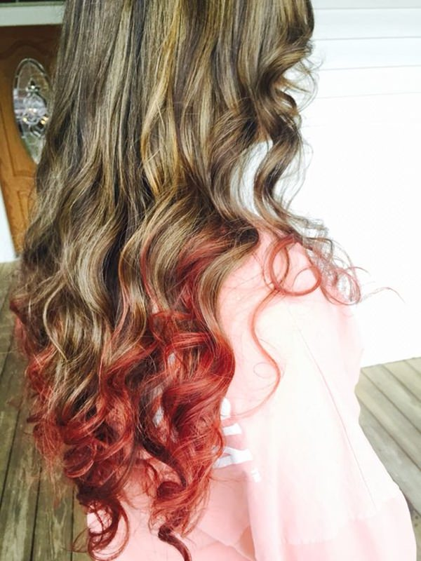 68 incredible caramel highlights trend that you should try once a blend of brown hair caramel highlights and red highlights curl up your hair and then go out with this bold look pmusecretfo Image collections