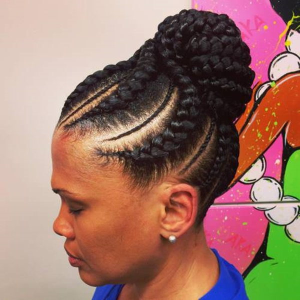 This Elegant Look Emerges Only With The Mixture Of Micro Braids Accents And  The Jumbo Cornrows. This Classic Hairdo Suits Best For Women And Makes Them  ...
