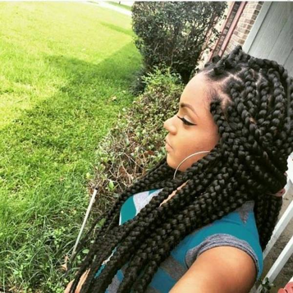 The Braids Are Thicker. The Hairdo Is Also Very Elegant.