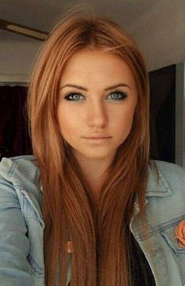 This Warmth Of Reddish Blonde Is Perfect For Dark Skin Beauties The Straight Hair Accentuated With Color