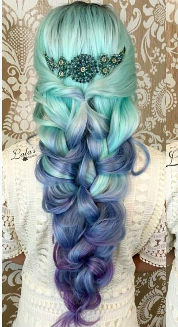 mermaid style hair 73 extraordinary mermaid hairstyles that will turn heads 2680 | 24060417 mermaid hair
