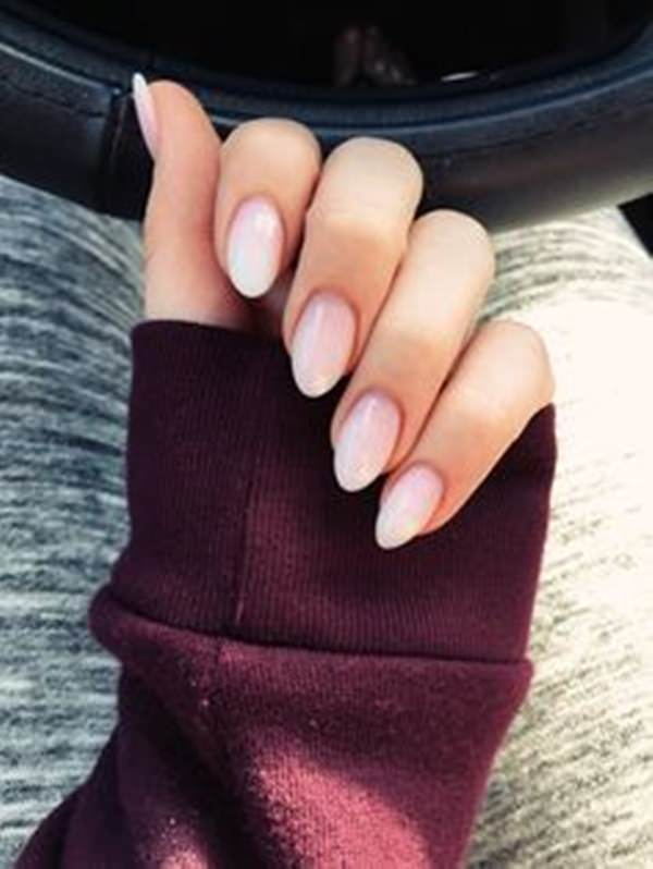 Oval nail designs are as sexy as square nail designs. French tips are all  our favorites. Mix pink and white. Amazing, right? - 61 Acrylic Nails Designs For Summer 2019 - Style Easily