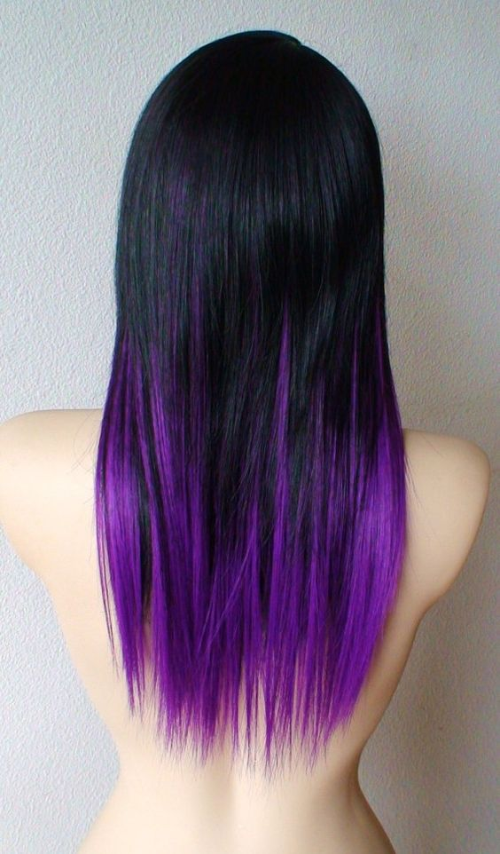 43 Amazing Dark Purple Hair Balayageombreviolet Style Easily