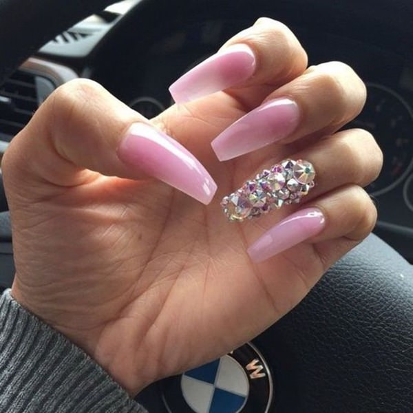 28. Baby Pink - 61 Acrylic Nails Designs For Summer 2018 - Style Easily