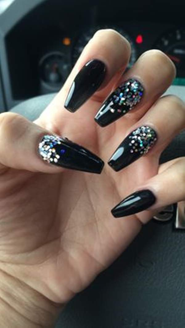Cute Nail Designs For Black Nails