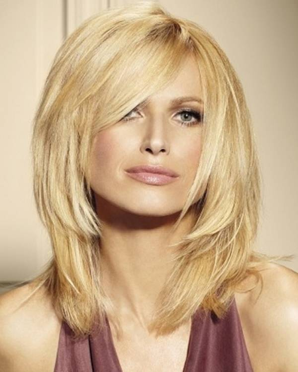 If you love to play with bangs consider short length haircuts. Side-swept fringe makes all the difference!
