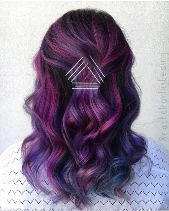 43 Amazing Dark Purple Hair Balayage Ombre Violet Style