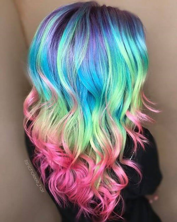 104 Pastel And Hidden Rainbow Hair Color Ideas Style Easily