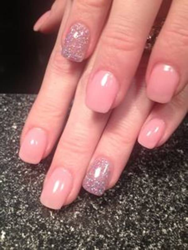 Pink Acrylic. Another acrylic nail design ... - 61 Acrylic Nails Designs For Summer 2019 - Style Easily