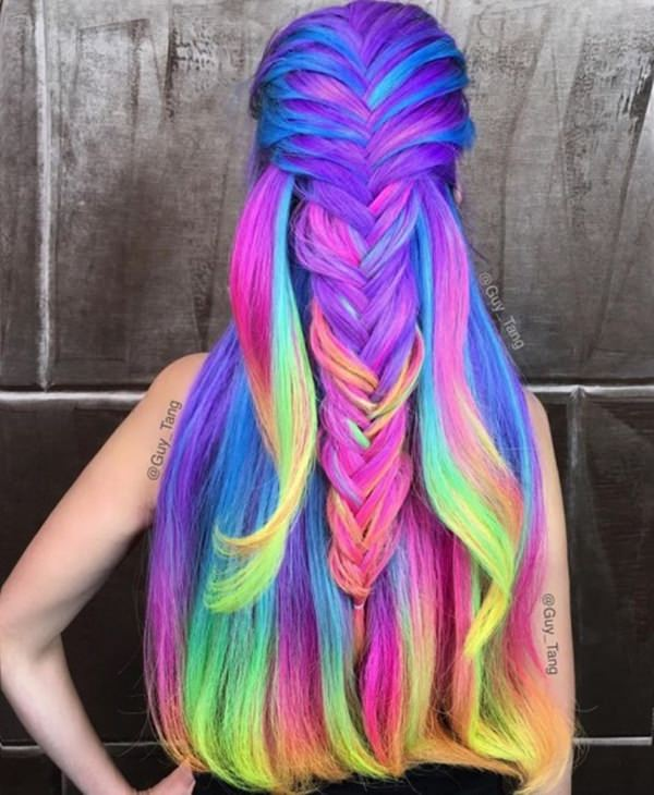 Nothing Gets More Magical Than Unicorn Hair That Can Also Be Called Mermaid By Taking Both Colors And Lying With The Ombre Technique