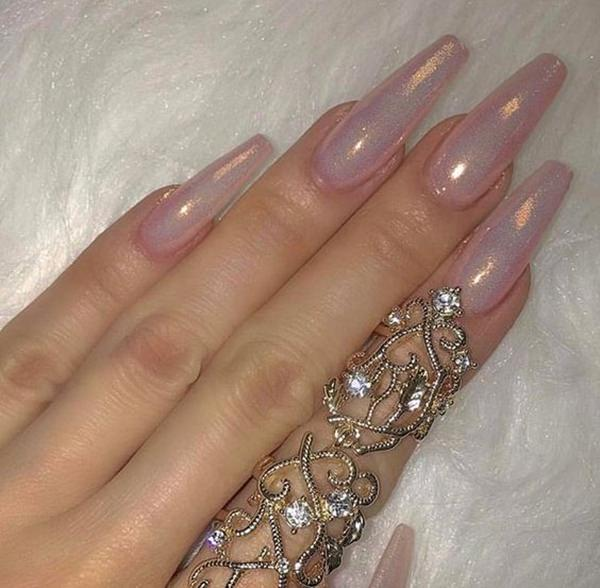 61 Acrylic Nails Designs for Summer 2019 - Style Easily - photo#40
