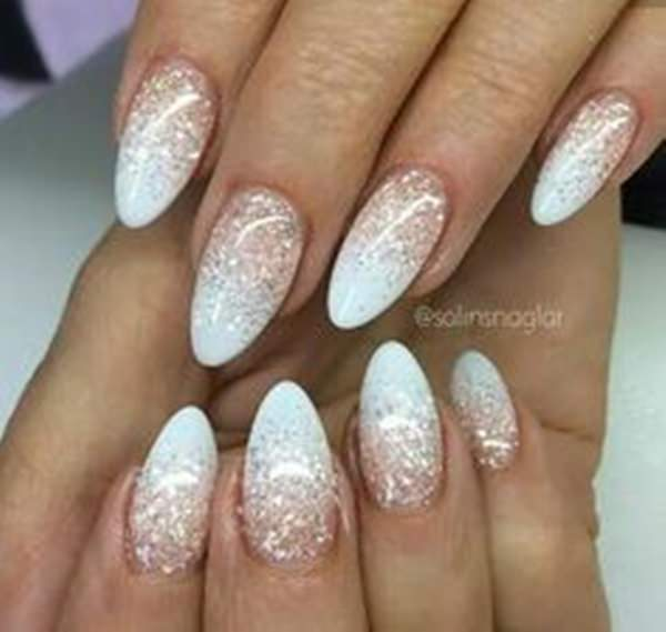55 sparkly french tips