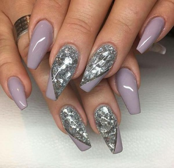 Mauve Is Not So Por Color When It Comes To Coffin Nails This Worked Perfectly With The Silver Accents Warmth Of Preserved And Shine