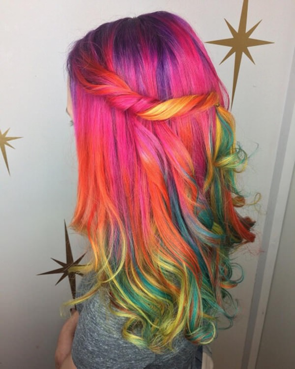 For The Love Of Colors Give Your Hair A Treat Be It Short Long Curly Or Straight Rainbow Has Its Way To Work Magic At All