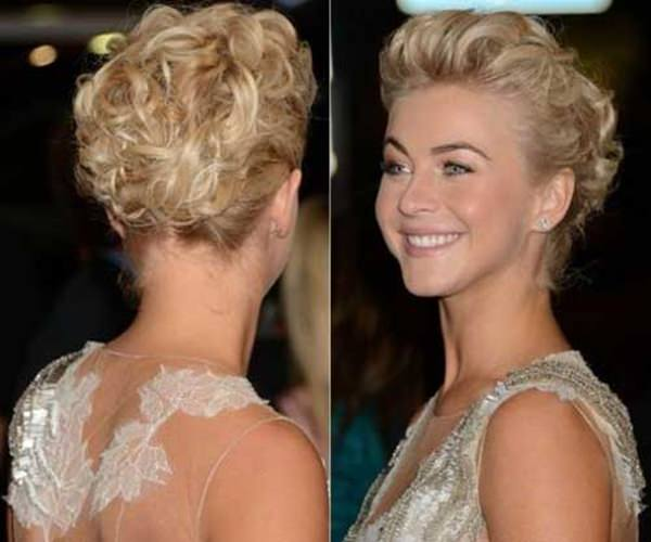 It's simply a world of glamor when you go all out. For this red-carpet worthy stunning look, simply curl your short locks and layer it up on top.