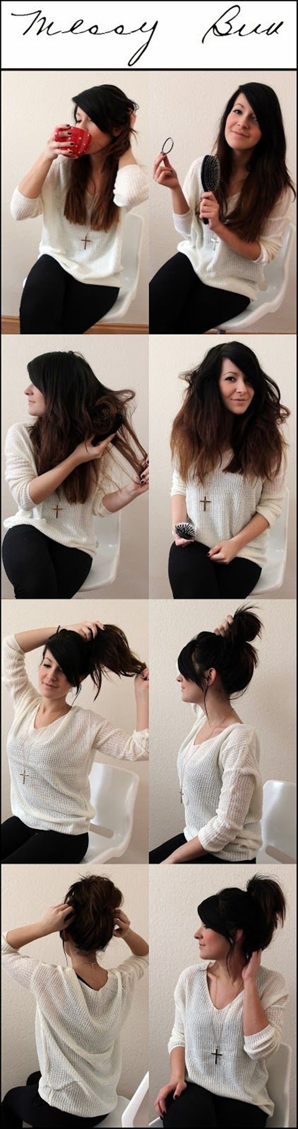 Wondering How To Do A Messy Bun