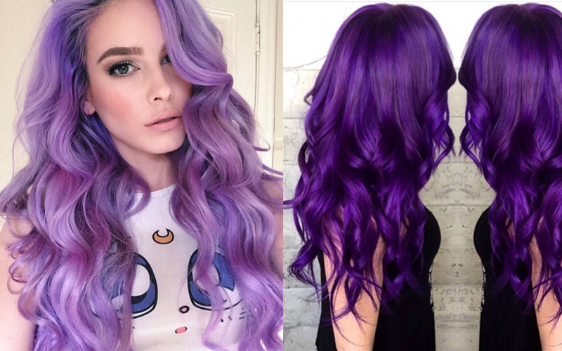 How To Dye Hair Purple From Blonde Black And Brown
