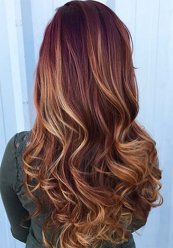 62 burgundy hair shades that will make your day style easily find yourself the perfect shade highlight or ombre hair dont worry if you dont have black hair add that pop of color in your life solutioingenieria Gallery
