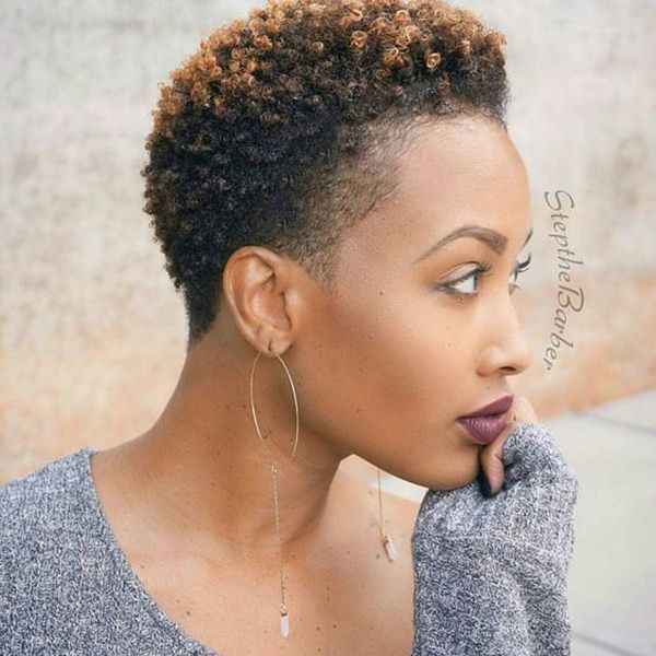 Highlighted Natural And Short Hairstyle