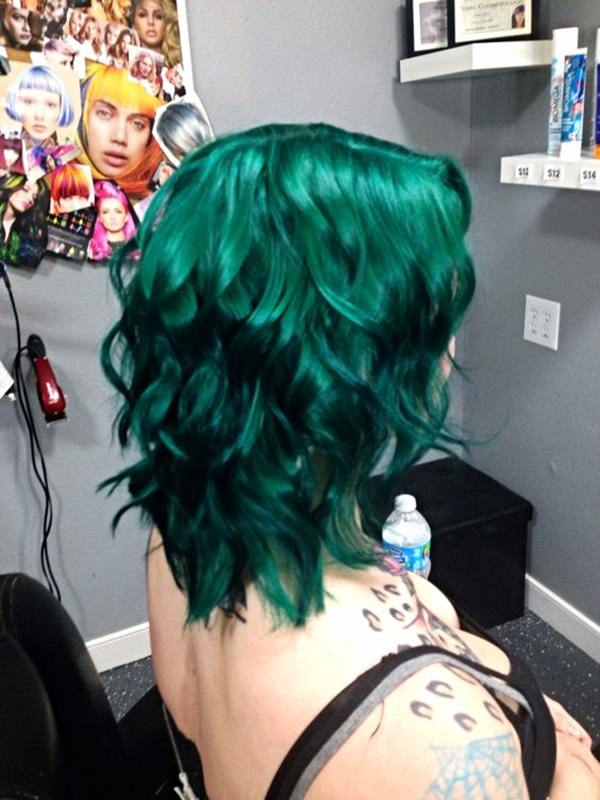 Best Emerald Green Hair Dye Set Green Hair Turquoise And Phone