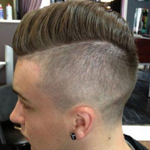 This Haircut From PJu0027s Barber Shop Is The Epitome Of Classic Furthermore  Cool. The Skin Fade On The Sides Is Contrasted By The Long Top And Accented  By The ...