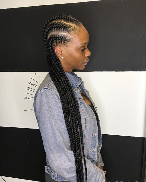 Feed In Braids Makes For Amazing Long Hairstyles. Since You Are Adding  Artificial Twists, You Can Add Up To Any Length You Want. You Can Have The  Longest Of ...