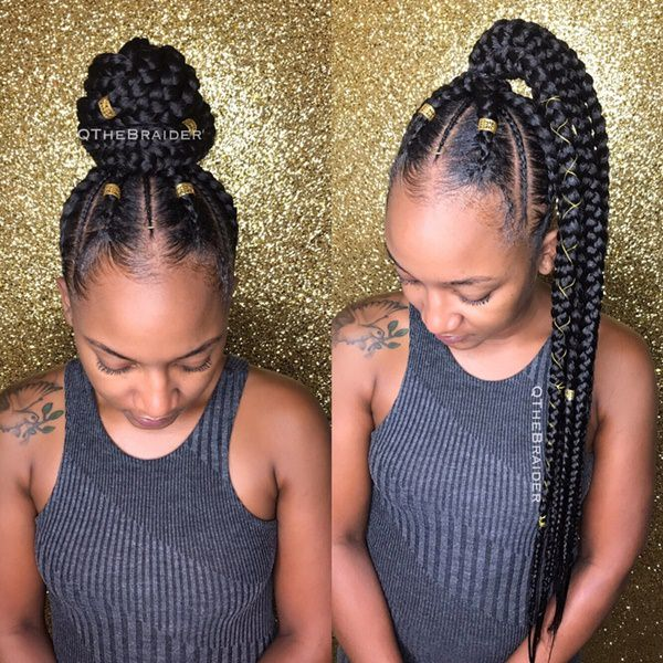 Cornrows Look Amazing When Pulled Up Into A High Ponyor A Bun It Seems Incredible Anyway If You Went For A Simple Twist You Could Add Some Beads