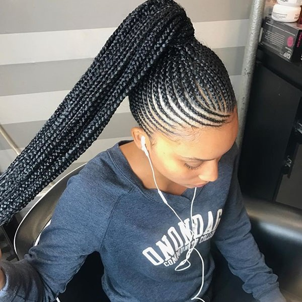 One Of The Most Popular Hairstyles Is The Feed In Braids Ponytail. Why  Wouldnu0027t It Be? They Look Neat And Stylish. The Braids All Tied Up Into One  Big Pony ...