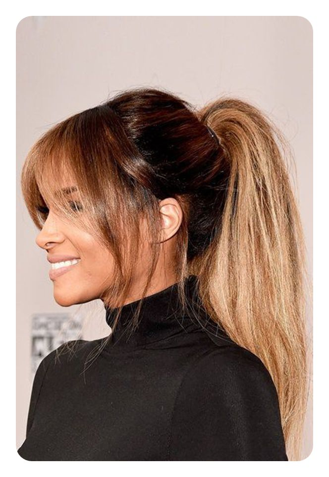 110 Ponytail With Bangs Ideas For A Good Hair Day Style