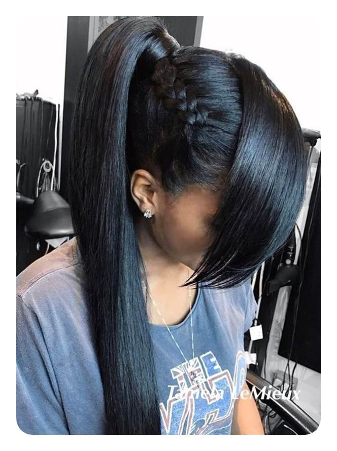 110 Ponytail With Bangs Ideas For A Good Hair Day , Style Easily