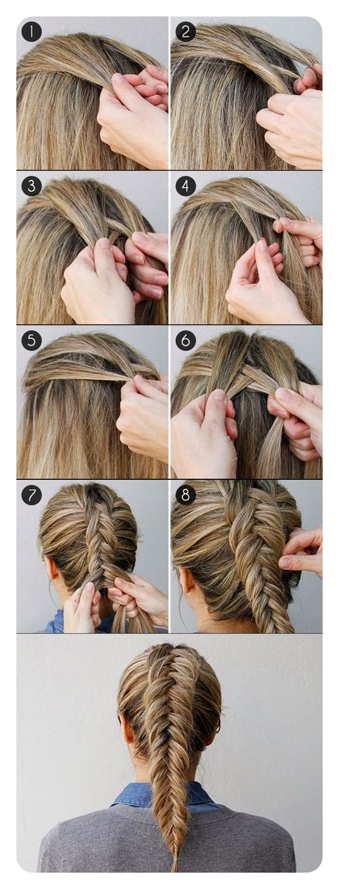 104 easy fishtail braid ideas and their step by step tutorial.