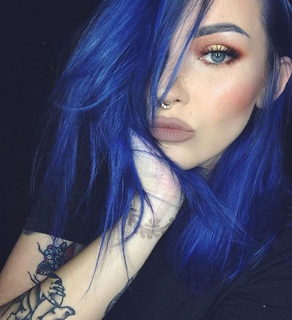 100 Stunning Blue Hair Options For A Bold Look Style Easily