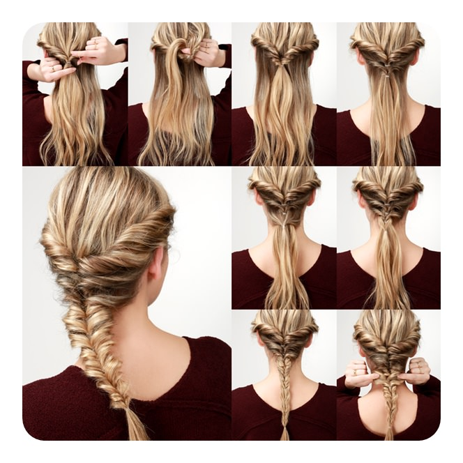 Simple Hairstyles For Weddings To Do Yourself: 104 Easy Fishtail Braid Ideas And Their Step By Step