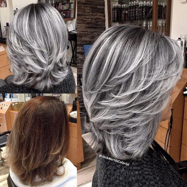 103 Cool Silver Hair For All Kinds Of Hair Style Easily