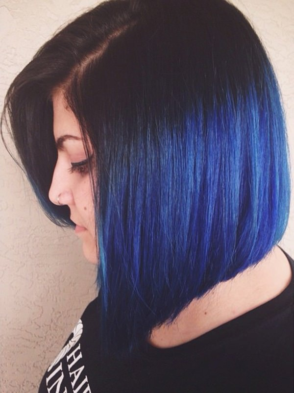 87 Great Blue Black Hair Ideas For You Style Easily